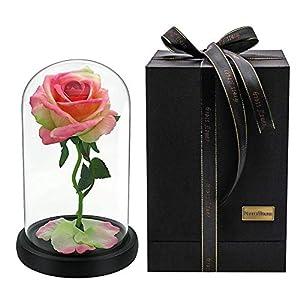 Kinbelle Forever Flower Preserved Artificial Silk Rose Flower, Best Gift for Valentine's Day Mother's Day Christmas Anniversary Birthday 38