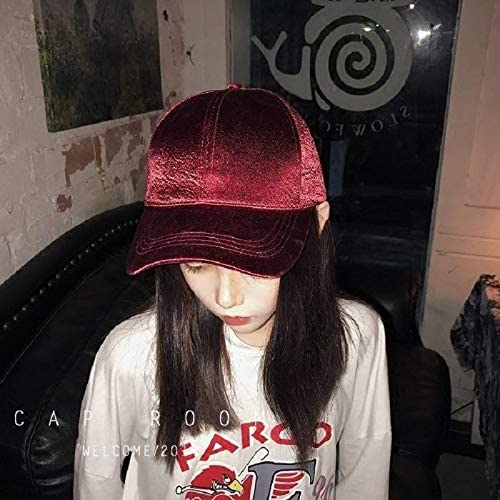 korean girls strap solid color silk satin base hat cap casual cap summer influx curved eaves shade navy
