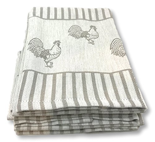 Kitchen Towels 4 Pack Absorbent Cotton