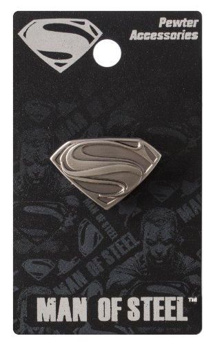 Superman Products : DC Superman Man of Steel Logo Pewter Lapel Pin