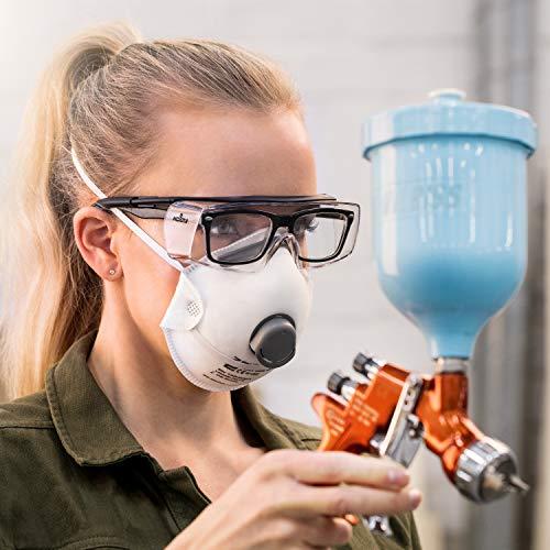 NoCry Over-Spec Lunettes de sécurité avec verres rayures enveloppante, avec certification ANSI Z87et OSHA et branches réglables et protection contre les rayons UV 400, Noir et Orange 6
