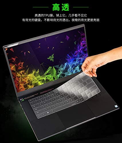 """Clear TPU Keyboard Protector Cover For 15.6/"""" RAZER BLADE 15 laptop"""