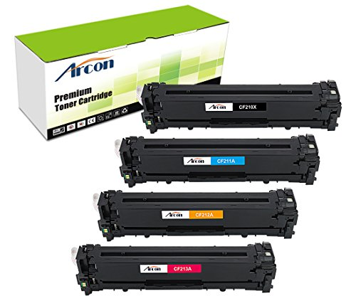 arcon-4pk-black-cyan-yellow-magenta-replacement-for-hp-131x-cf210x-cf211a-cf212a-cf213a-cf210a-toner