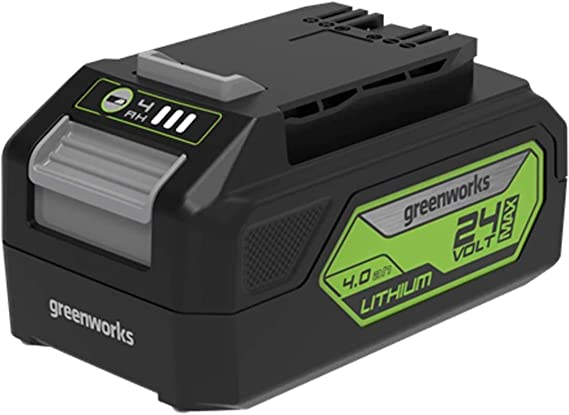 Greenworks Tools Akku G24b4 2 Generation Li Ion 24 V 4 0 Ah Wiederaufladbarer Leistungsstarker Akku Passend Für Alle Geräte Der 24 V Greenworks Tools Serie Baumarkt