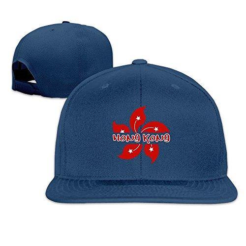 custom-unisex-hong-kong-flat-billed-baseball-visor-cap-navy