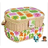 LIL SEW & SEW FS-095 Sewing Basket with 41-Piece Sewing Kit PET2