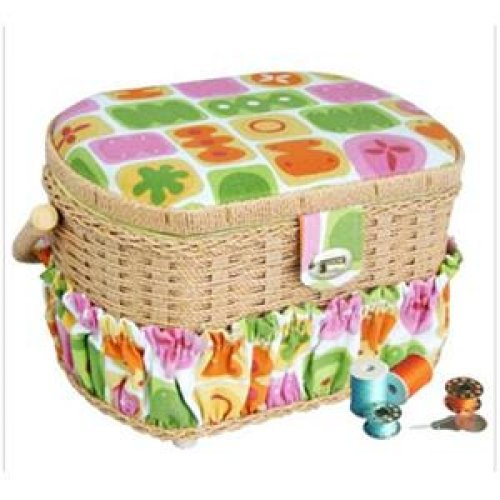 LIL SEW & SEW FS-095 Sewing Basket with 41-Piece Sewing Kit PET2 by
