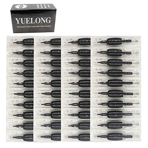 Tattoo Needles and Tubes Combo- Yuelong 40PCS 25MM 1
