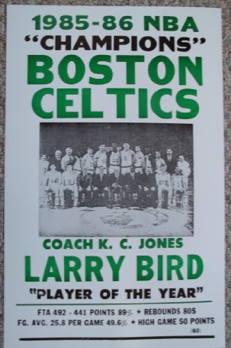 1985-86 Boston Celtics NBA Champions Poster Print