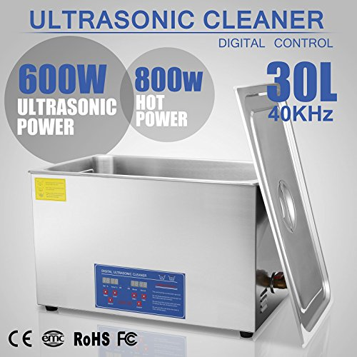 Jakan 30L Stainless Steel Ultrasonic Jewelry Cleaner To Clean The Gold,Ring,Diamond,Watch,Glasses,Denture for Personal Use or Factory Use.