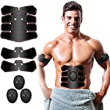 Abs Stimulator, Muscle Toner - Abs Stimulating Belt- Abdominal Toner- Training Device for Muscles- Wireless Portable to-Go Gym Device- Muscle Sculpting at Home- Fitness Equipment for at-Home Workouts
