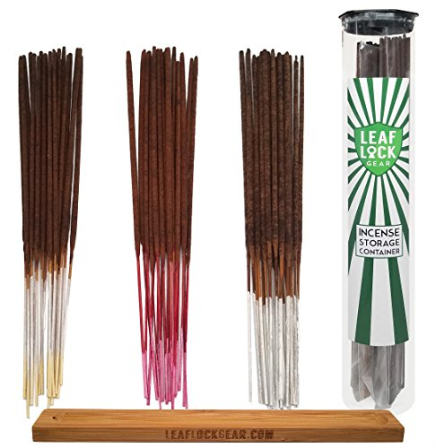 Bundle - 62 Items - Wild Berry Incense Vanilla Scent Sampler. Includes 20 Sticks Each of Vanilla, Cherry Vanilla, and Pear Vanilla with Incense Storage Container and Burner