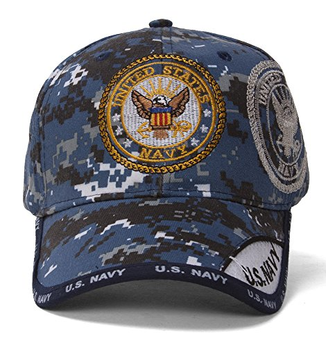 US Navy Emblem Shadow Blue Digital Camo Adjustable (Cap Hat Emblem)