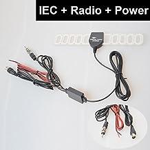 EKYLIN Car Automobile TV Radio FM Antenna Signal Amplifier Booster Digital TV DVBT ATSC ISDB Analog for Car Dash DVD GPS Car Stereos Head unit - IEC + Raido Plug