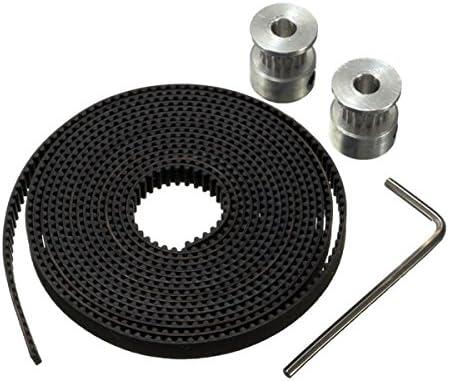 GT2 Polea 16 Dientes 5 mm de diámetro 2 m cinturón para Impresora ...