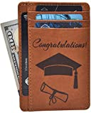 Graduation Gifts for Him and Her 2019 - Grad Party Supplies Personalized Custom Funny Gift Ideas for Phd Congrats Graduate Leather Wallets
