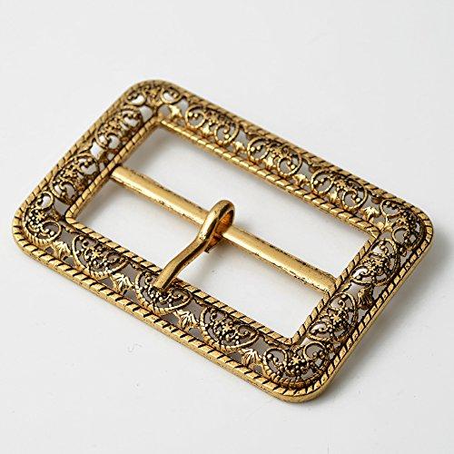 Vintage Metal Filigree Belt Buckle, Vintage Fashion Jewelry, 2-3/4