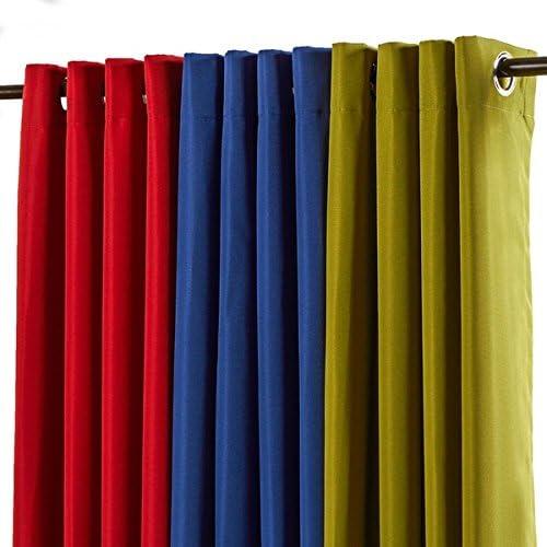 1 pieza 95 cm kiwi color Gazebo cortina solo Panel, verde Color sólido patrón Rugby colores fuera, al aire libre Pergola Drapes porche, deck, patio Protector de entrada Sunroom Lanai: Amazon.es: Jardín