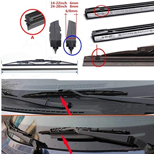 (Wipers car Windscreen Wipers Blade(Refill) for BMW B6 B7 B7L I3 I8 M135i M235i M3 M4 M5 M6 X1 X3 X4 X5 X6 Z4 car Wiper - (Item Length: 21)