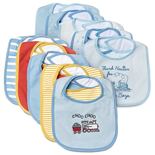 Price comparison product image Little Me 10 Pack Waterproof Bibs for Baby Boys & Girls,  0-12 Months