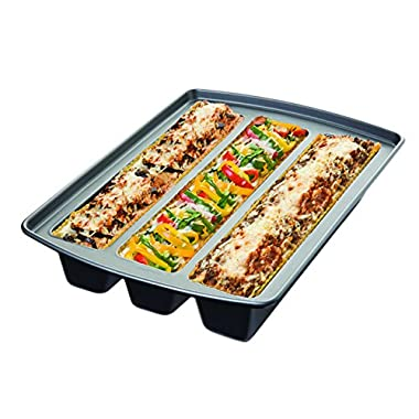 Chicago Metallic 26783 Lasagna Trio Pan, 12.40 by 16.00 by  3.0 - Silver