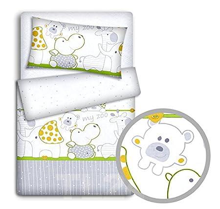 wei/ß Baby Bettw/äsche Set Kissenbez/üge um Babybett Bettbezug 2pc