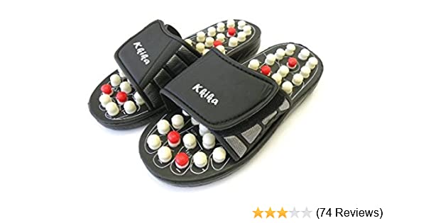 0223117bb714 Amazon.com  Kkika Sandal Reflex Massage Slippers Acupuncture Foot Healthy  Massager Shoe For Man 9-9.5 Women 10-10.5  Health   Personal Care