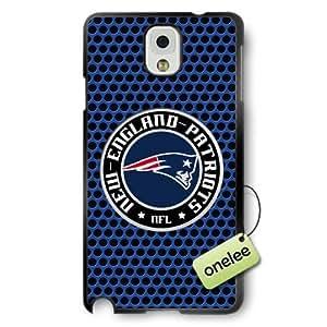 NFL New England Patriots Team Logo Samsung Galaxy Note 3 Black Rubber(TPU) Soft Case Cover - Black