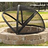 40-Inch Fire Pit Easy Access Spark Screen
