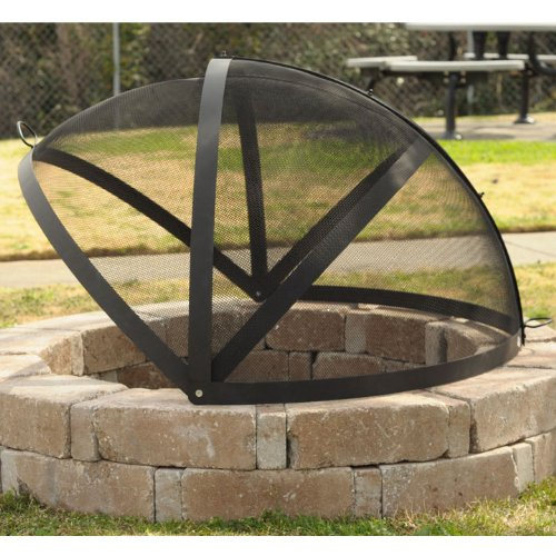 40 Inch Fire Pit Easy Access Spark Screen Just Some