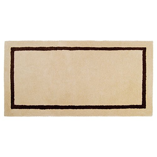 Minuteman International Mesa Tan Contemporary Wool Hearth Rug, Rectangular (Pad Fire Resistant Hearth)