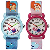 TIDOO 3D Cartoon The Mermaid & Starfish Children Watch for Girls