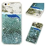 iPhone 6S Case, iPhone 6 Clear Liquid Glitter Case Cute Cartoon Painting Bling Shiny Glitter Sparkle Flowing Moving Hearts Shockproof Soft TPU Bumper Frame PC Shell Ultral Slim Cover for iPhone 6S/6