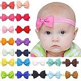 Baby Girls Headbands 20Pcs Elastic Headbands with 3' Hair Bow (Hair Band)