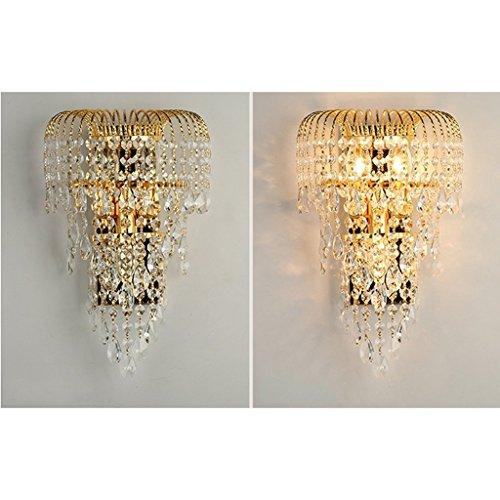 MOMO Luxury K9 Crystal Wall Lamp Led Gold Living Room Bedroom Bedside Dining Room Wall Lamp European Lighting by MOMO (Image #3)