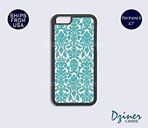 iPhone 6 Case - 4.7 inch model - Vintage Blue Damask Pattern iPhone Cover