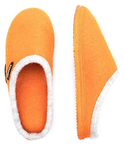 Giesswein Pantofole Dannheim I Più Leggera Ciabatta Unisex I Comodi Pantofola I Muli Per Gli Uomini E Le Donne I Comode Pantofole I I Scivolare Lana I Piedi Nudi Sensazione Di Mandarino