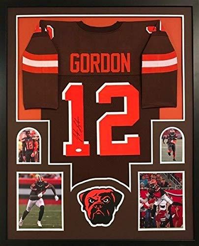 1024ec652 Josh Gordon Autographed Signed Cleveland Browns 34 X 42 Deluxe Framed  Jersey - JSA Certified