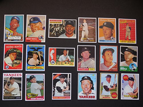 Mickey Mantle (18) Card Baseball Reprint Lot #7 Includes 1952 Rookie, 1953, 1956, 1957,1958, 1958 All-Star, 1959, 1959 All-Star, 1960, 1961, 1962, 1963, 1964, 1965, 1966, 1967, 1968, 1969 **(New York)
