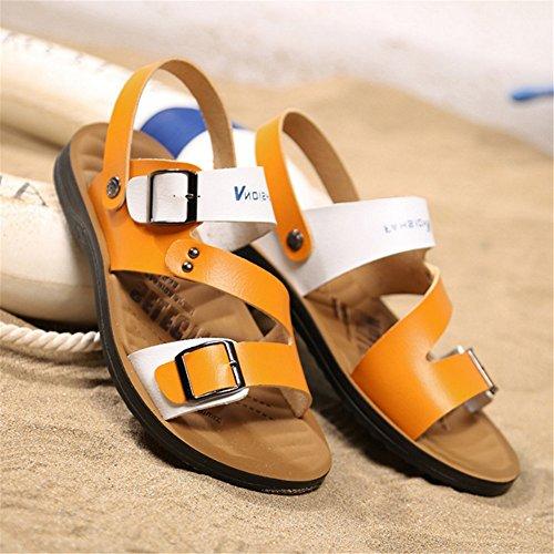 Sandali Dimensione All'aria Giallo Sport Giallo Da 3 Anti scivolo pantofole da Per Colore EU Uomo spiaggia Scarpe 40 Wagsiyi Con 2 Sportive Sandalo Aperta Scarpe 48UP0SHq8A