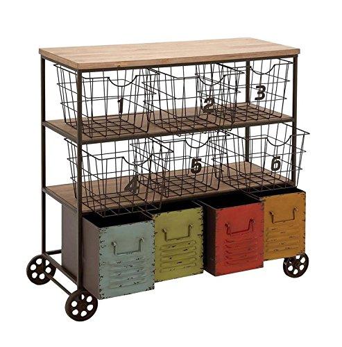 Deco 79 34968 Metal Storage Cart, 34