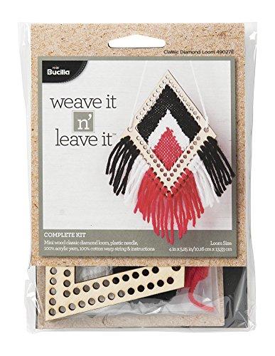 Bucilla 49027E Classic Diamond Mini Loom Weave It N' Leave It Kit by Bucilla