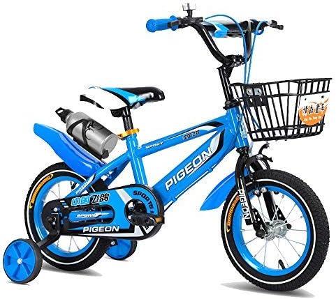 YSA キッズバイク12インチ14インチキッズバイクガールズ&ボーイズ年齢2-5歳、12 14インチキッズ自転車トレーニングホイールとハンドブレーキ付き自転車