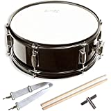 """Snare Drum Set Student Steel Shell 14"""" X 5.5"""", Includes Drum Key, Drumsticks and Strap"""