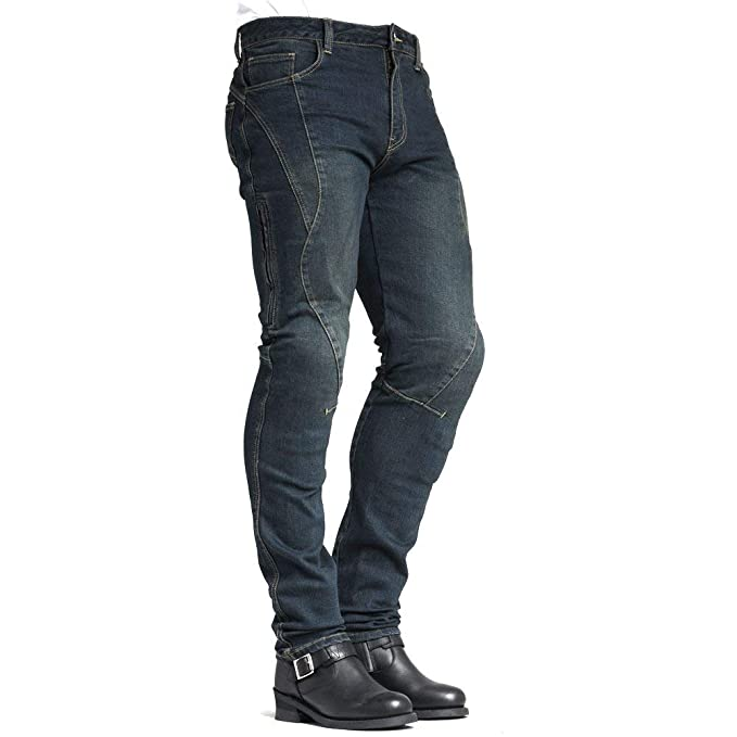 MAXLER Jean Biker Jeans for Men Motorcycle Motorbike Riding Kevlar Jeans 1617 Blue 38