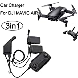 FAPIZI 3in1 Car Charger Adapter For DJI Mavic Air Remote Control & Battery Charging Hub Black