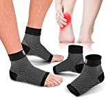 Bitly Plantar Fasciitis Socks (1 Pair) Premium Ankle Support, For Heel & Foot pain, arch support Compression Socks (Medium)