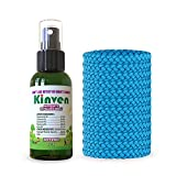 Kinven Mosquito Repellent Bundle - Mosquito Wristband Repelent & Spray, Waterproof, Natural, DEET-free, Indoor & Outdoor Protection for Adults & Kids (2oz spray + 12 bracelet, Light Blue)