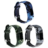 ECSEM Replacement Bands and Straps for Garmin vivofit JR & vivofit 3, [fits 6~8.5 inch wrists] (3pack D)