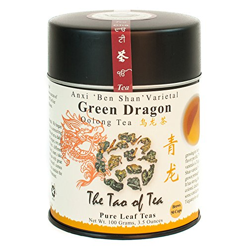 - The Tao of Tea, Green Dragon Oolong Tea, Loose Leaf, 3.5 Ounce Tin